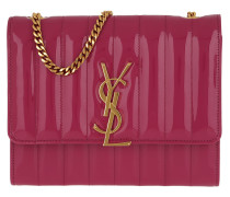 Umhängetasche Vicky Chain Wallet Quilted Patent Leather Freesia pink