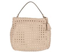 Lotus Paglia di Vienna Leather Hobo Bag Natural Hobo Bag