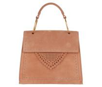 Lace Suede Handle Bag Argile Satchel Bag