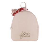 Smooth Saffiano Pu Logo Backpack  Rucksack