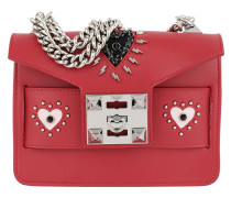 Mila Thunder Hearts Detailed Shoulder Bag Red