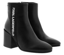 Boots Lavinia Karl Band Midi Boot Black Leather