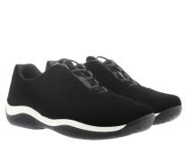 Calzature Donna Velluto Sneaker Black Sneakers