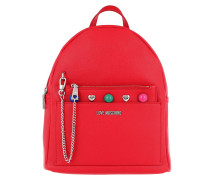 Backpack Coloured Studs Rosso Rucksack