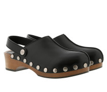 Schuhe Diorquake Slippers Leather Black schwarz