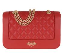 Quilted Shoulder Bag Red Satchel Bag