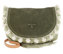 Fringed Crossbody Bag Daily Green Tasche
