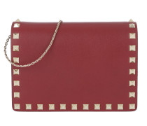 Rockstud Crossbody Bag Calfskin Ruby Tasche