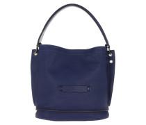 Beuteltasche Longchamp 3D Bag Leather Sapphire blau