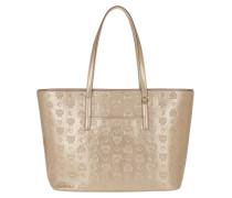 Shopper Anya Monogrammed Metallic Shopping Bag Medium Berlin Gold