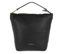 Liya Leather Hobo Bag Noir Hobo Bag