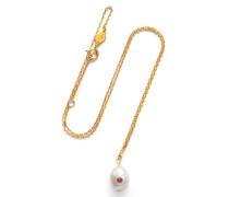 Halskette Baroque Pearl Necklace Ruby