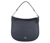 Polished Leather Chelsea Hobo Bag Navy Hobo Bag