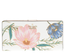 Stacy Flower Patterned Wallet Cream