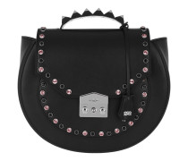 Eva Bling Studded Metal Shoulder Bag Black Tasche