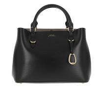 Pebbled Leather Satchel Medium Black/Truffle Satchel Bag
