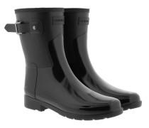 Boots Womens Refined Short Gloss Duo Black schwarz