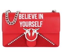 Love Believe In Yourself Shoulder Bag Rosso Marte Satchel Bag