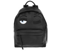 Flirting Backpack Eco Leather Black Rucksack