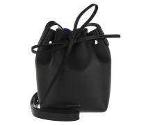 Beuteltasche Mini Mini Bucket Bag Black/Royal Blue schwarz