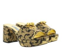 Mules Jacquard Leopard Print   Sandalen