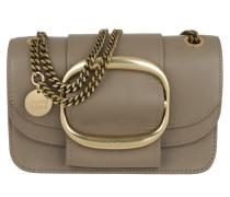Umhängetasche Hopper Shoulder Bag Small Leather Motty Grey beige