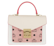 Satchel Bag Patricia Visetos Leather Block Satchel Small Soft Pink/Shell rosa