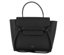 Satchel Bag Nano Belt Bag Grained Calfskin Leather schwarz