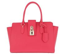 Large Padlock Handbag Vivid Red Tote