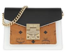 Patricia Visetos Leather Block Crossbody Mini Cognac/Black Tasche