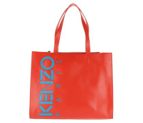 Calfskin Small Shopping Bag Medium Red Shopper