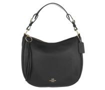 Hobo Bag Polished Leather Sutton Hobo Black schwarz