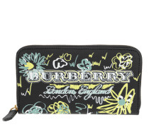 Doodle Zip Around Wallet Black