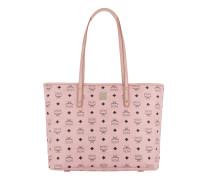 Anya Top Zip Shopper Medium Soft Pink Shopper gold