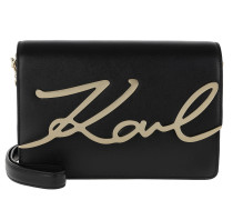 K/Signature Shoulderbag Black/Gold Tasche