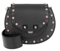 Mari Bling Studded Shoulder Bag Black Tasche