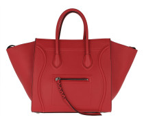 Tote Phantom Micro Luggage Bag Leather Vermillon rot