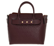 Tote The Monogram Triple Stud Belt Bag Small Leather Burgundy rot