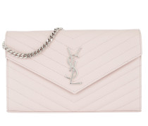 Monogramme Chain Wallet Washed Light Pink
