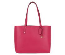 Shopper Refined Leather Central Tote Bright Cherry
