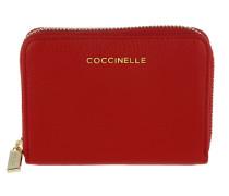 Metallic Soft Wallet Coquelicot Portemonnaie