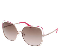 Sonnenbrille Women Sunglasses Metal GU7638 Rose Gold/Brown