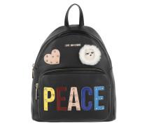 Peace Backpack Black Rucksack