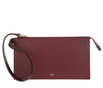 Pocket Trifolded Smooth Bordeaux Clutch