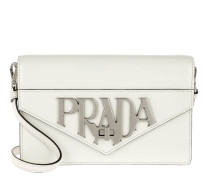 Prada LOGO Pattern Antique Shoulder Bag White Tasche