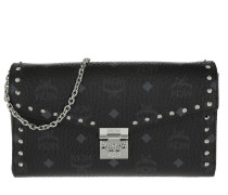Stark Visetos Medium Flap Crossbody Chain Black Tasche