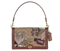 Signature Patchwork Riley Crossbody Bag Red Tasche