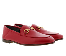 Brixton Horsebit Loafer Leather Hibiscus Red Schuhe