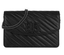 Umhängetasche BB Wallet On Chain Leather Black schwarz