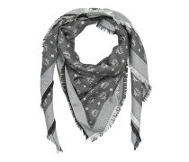 Basic Jacquard Monogram Scarf Silver Shadow Accessoire